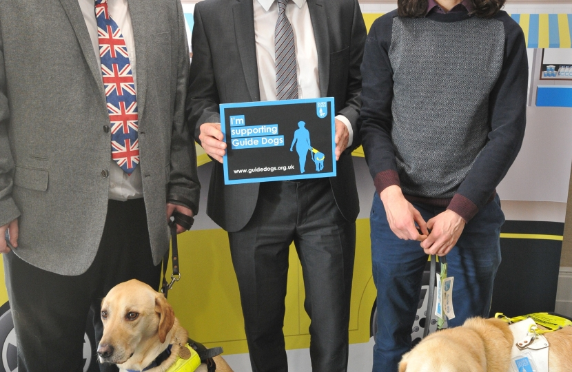 Nigel with Guide Dogs