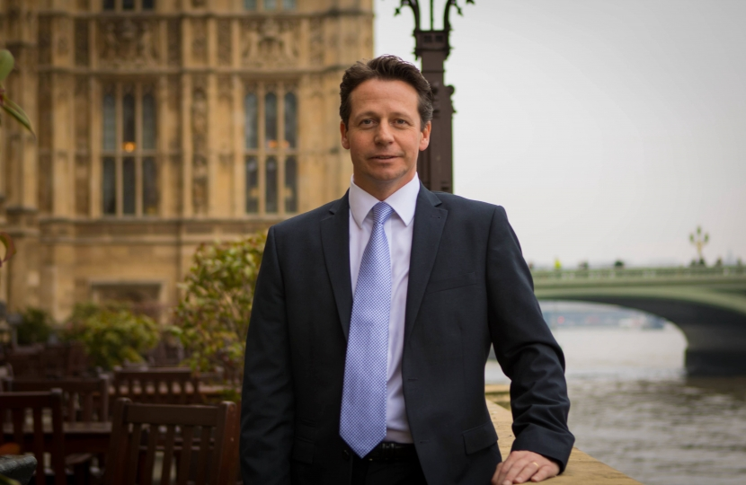 Nigel Huddleston MP Houses of Parliament Terrace