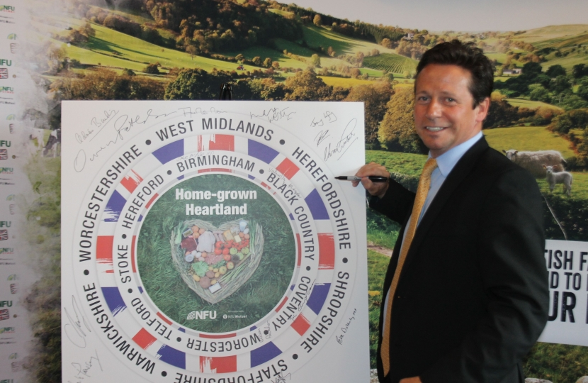 Nigel Huddleston MP Home grown heart land campaign