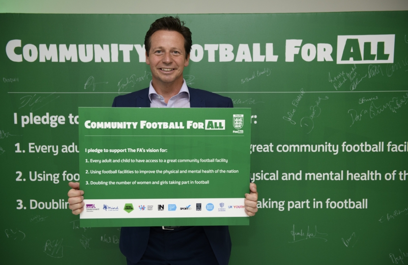 Nigel supports the FA Pledge