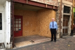 Councillor Martin King is reassuring residents that action is being taken to ensure the shop front on 16 High St. Evesham will be restored as quickly as possible following its removal.