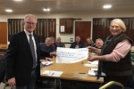 Broadway Bowling Club's refurbishment funds have been boosted thanks to a grant from County Councillor Liz Eyre.